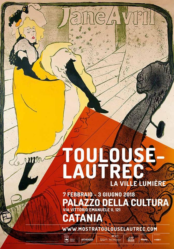 Locandina della mostra catanese su Henry de Toulouse-Lautrec