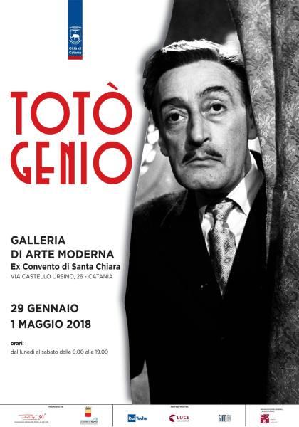 """Locandina della mostra """"Totò genio"""" di Catania"""